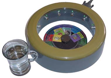 orgonite ring chi generator atg 12 with water bottle and module